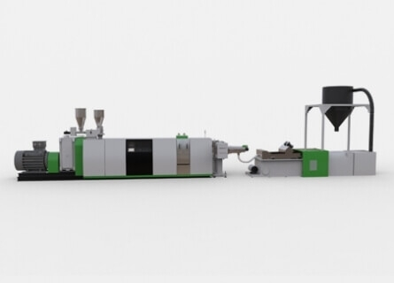 Single Screw Extruder Recycling Pelletizing System