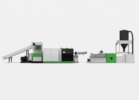 Shredder Extruder Recycling Pelletizing System