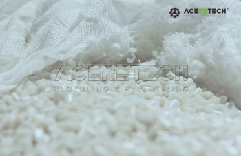Crushed PET fiber/cloth