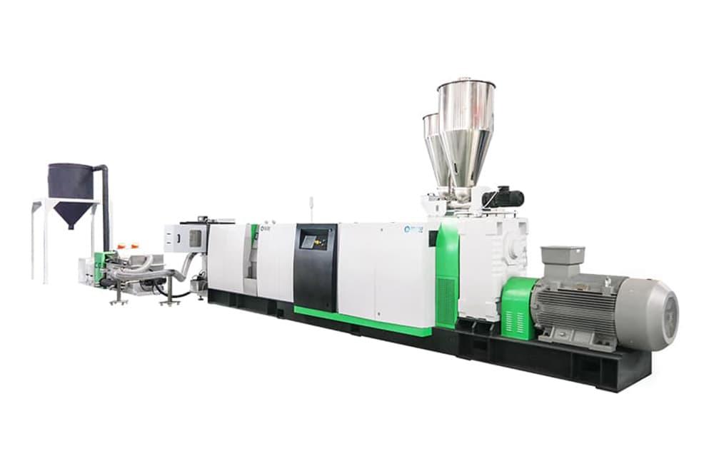 Single Screw Extruder Recycling Pelletizing System