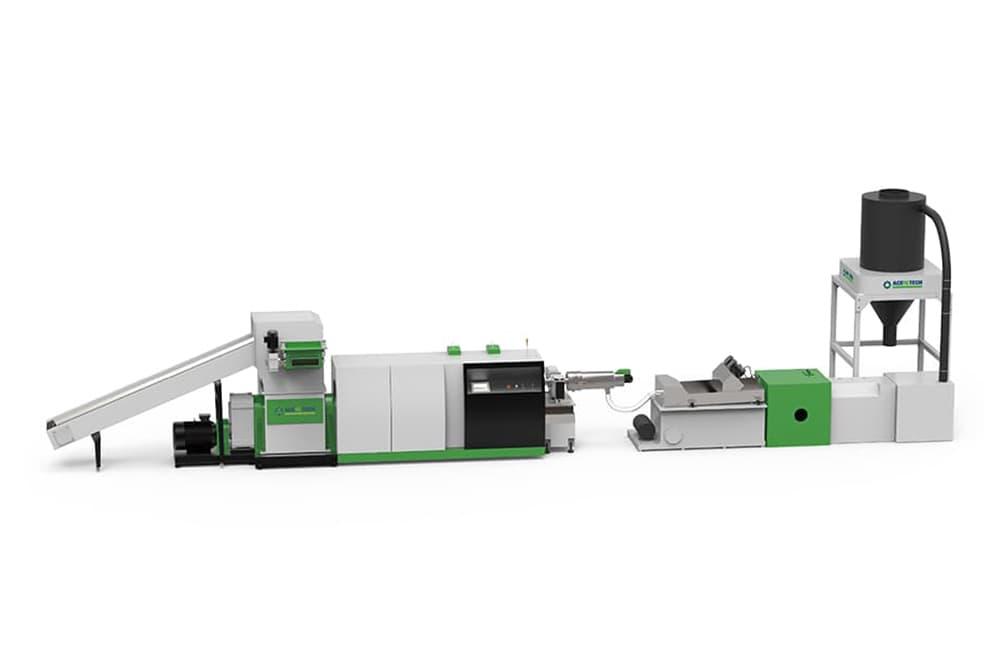 Shredder Extruder Recycling Pelletizing System