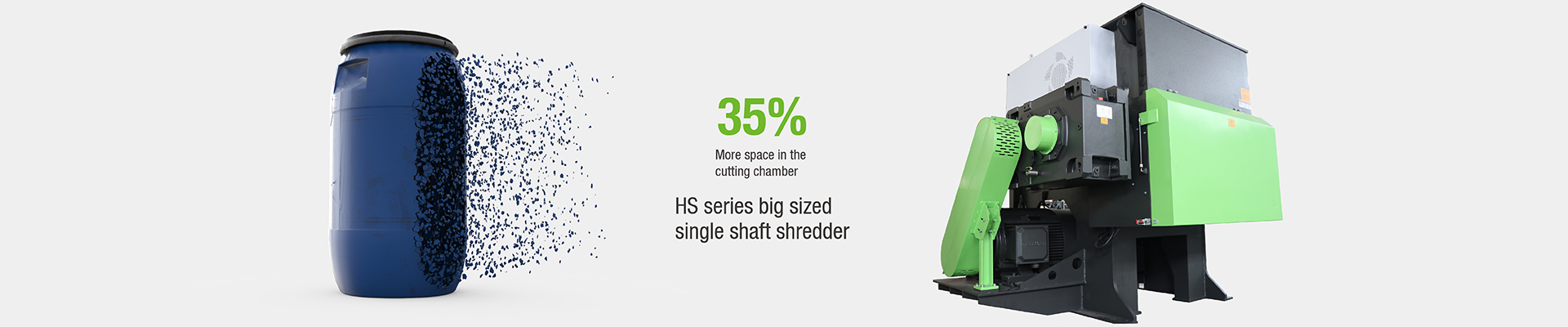 HS Series Single Shaft Hard Plastic Shredder