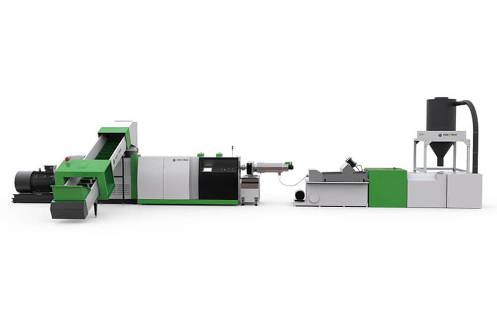 ACS-H Single Stage Cutter Compactor Recycling Pelletizing Line