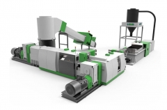 ACSS Double Stage Cutter Compactor Recycling Pelletizing Line