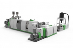ADS Double Dtage Cutter Compactor Recycling Pelletizing Line