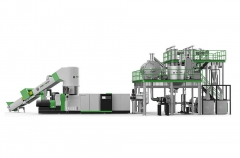 LSP  Pet Plastic Recycling Machine Line With Liquid State Polymerization  System For IV Improvement