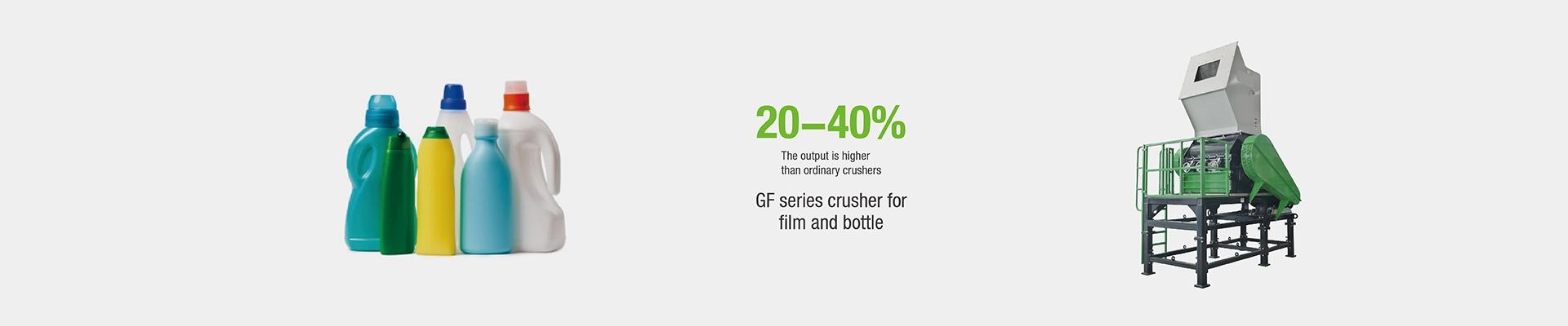 GF Series High Output Efficient Plastic Crusher Machine