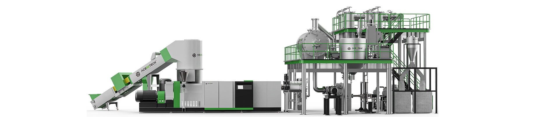 PET Recycling Pelletizer Machine with LSP System