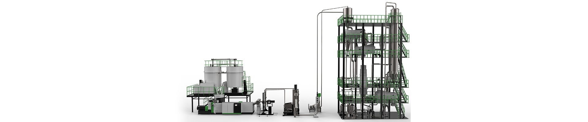 SSP(Continuity) Pet Waste Recycled Plastic Pelletizing Machine For IV Increase