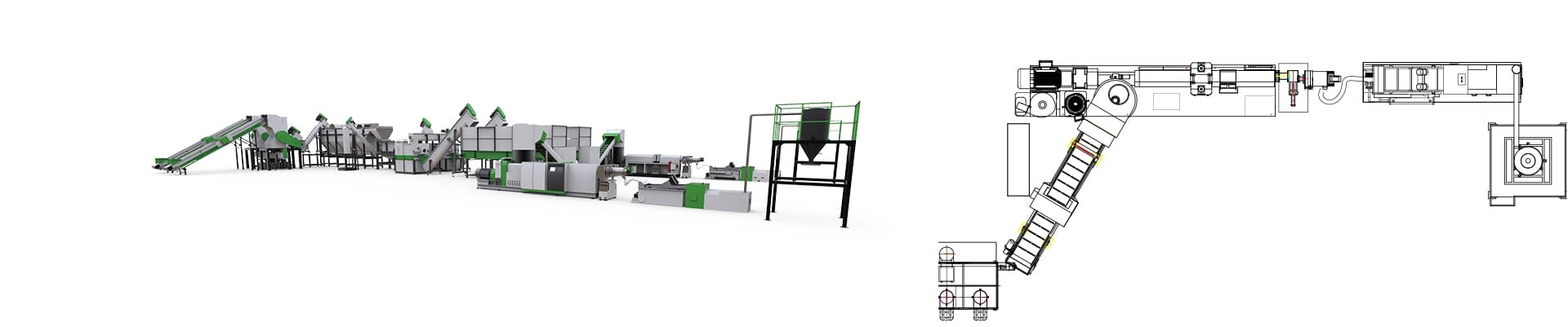 Plastics Recycling Washing and Pelletizing Turn-key Solution