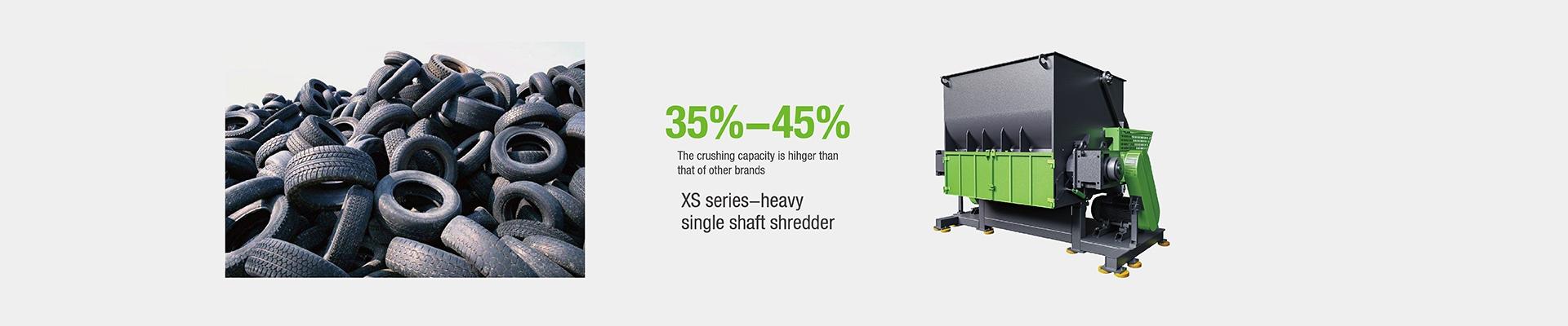 XS Series Carbon Steel Industrial Multifunctional Plastic Shredder With Siemens Plc